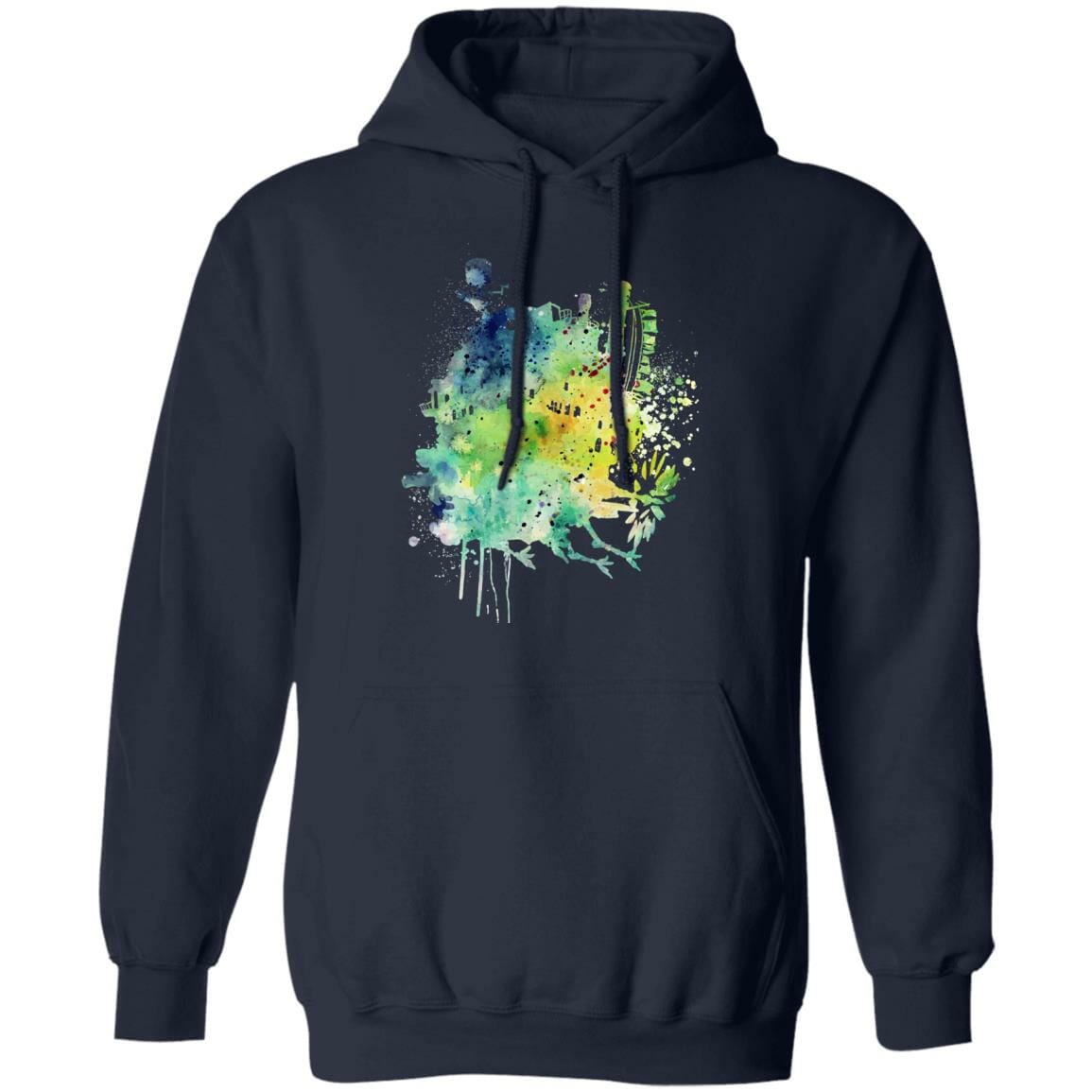 Howl's Moving Castle Colorful Castle Hoodie