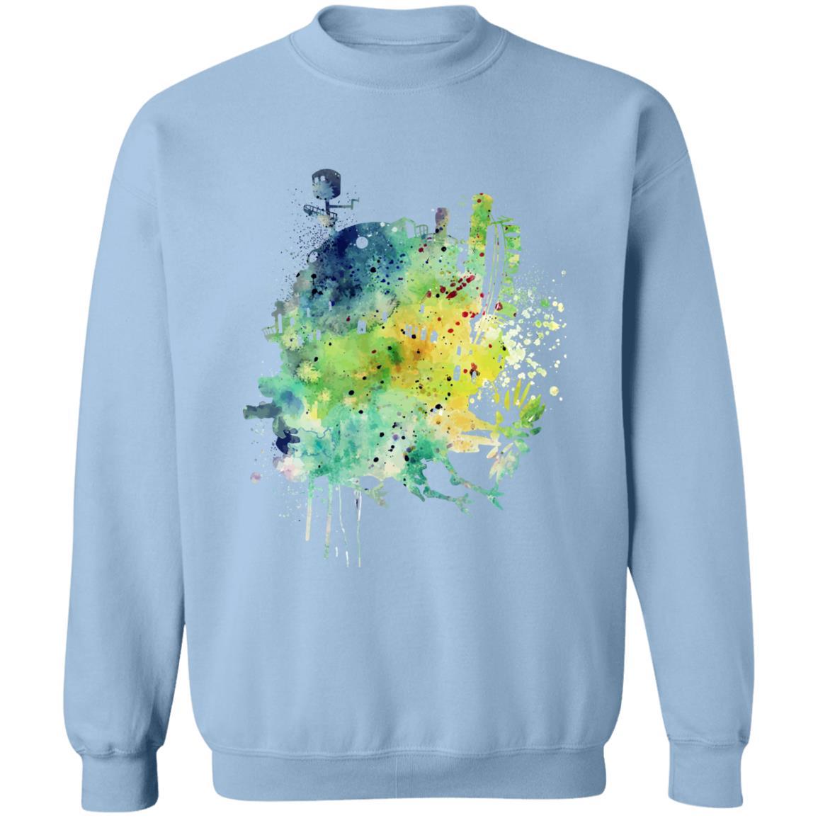 Howl's Moving Castle Colorful Castle Sweatshirt