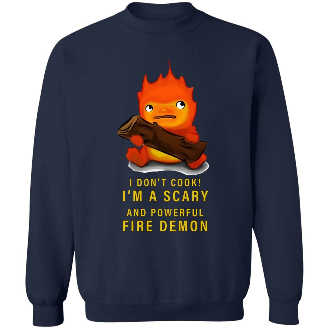 Howl's Moving Castle Calcifer Sweatshirt