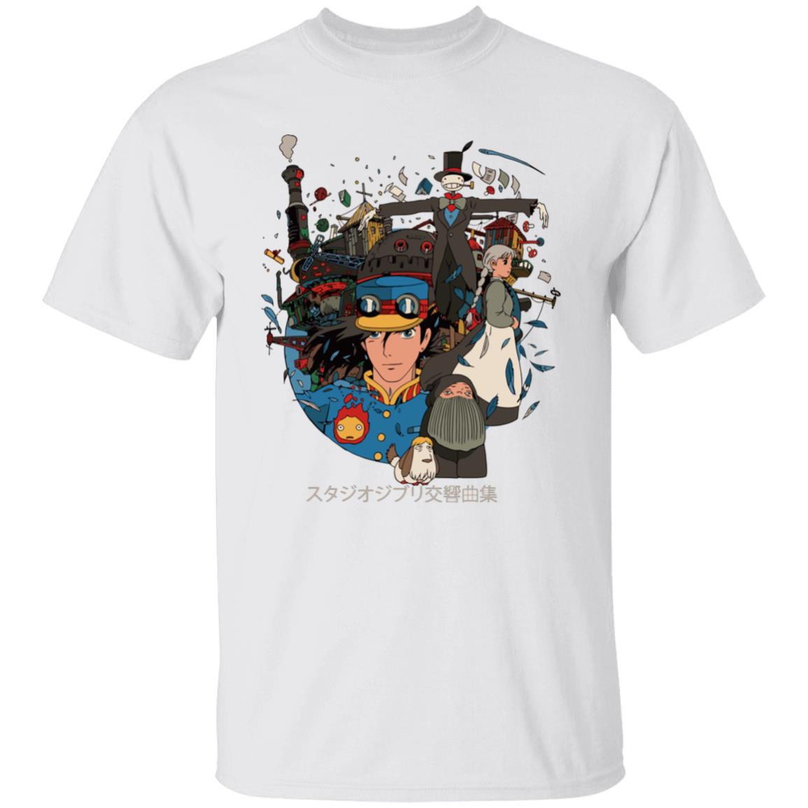 Howl's Moving Castle Characters Compilation T Shirt