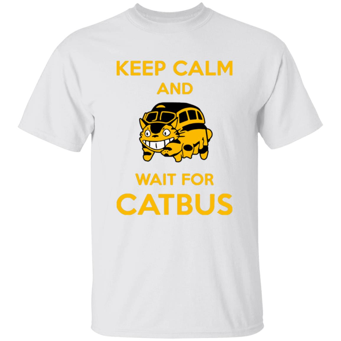 My Neighbor Totoro Keep Calm and Wait for Cat Bus T Shirt