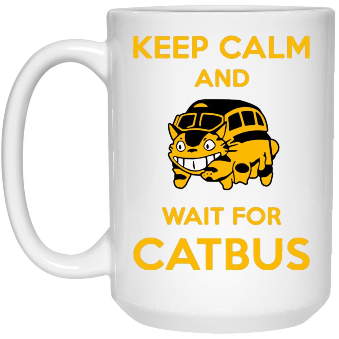 My Neighbor Totoro Keep Calm and Wait for Cat Bus Mug