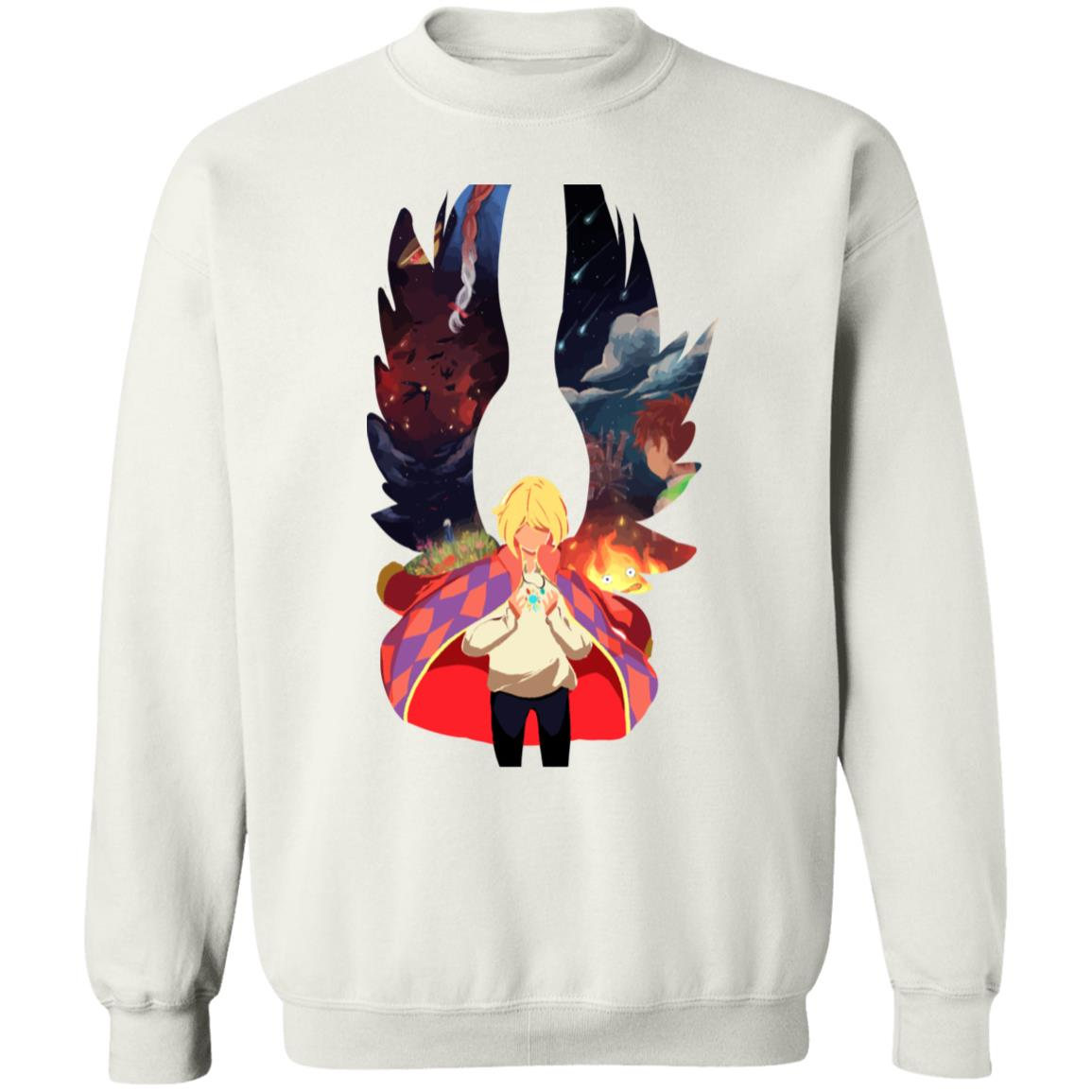 Howl and Colorful Wings Sweatshirt
