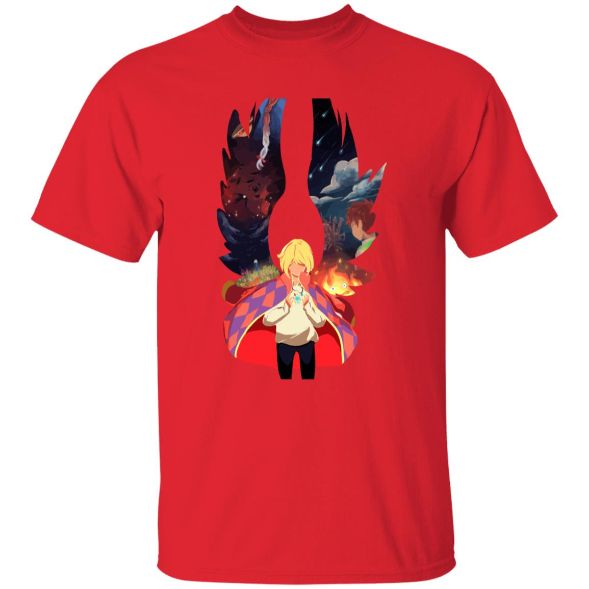 Howl and Colorful Wings T Shirt