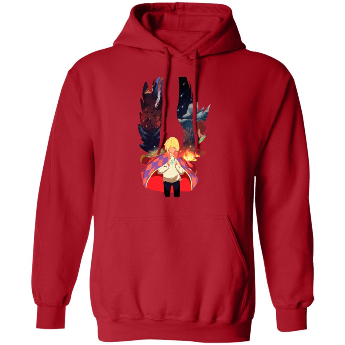 Howl and Colorful Wings Hoodie