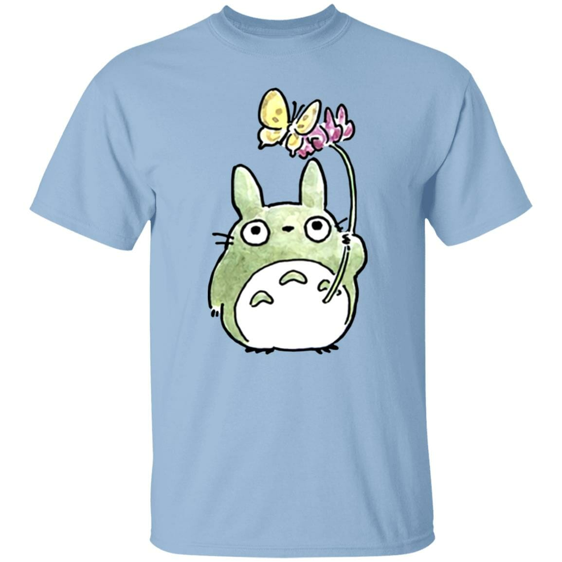 Totoro with Butterfly Cute Drawing T Shirt