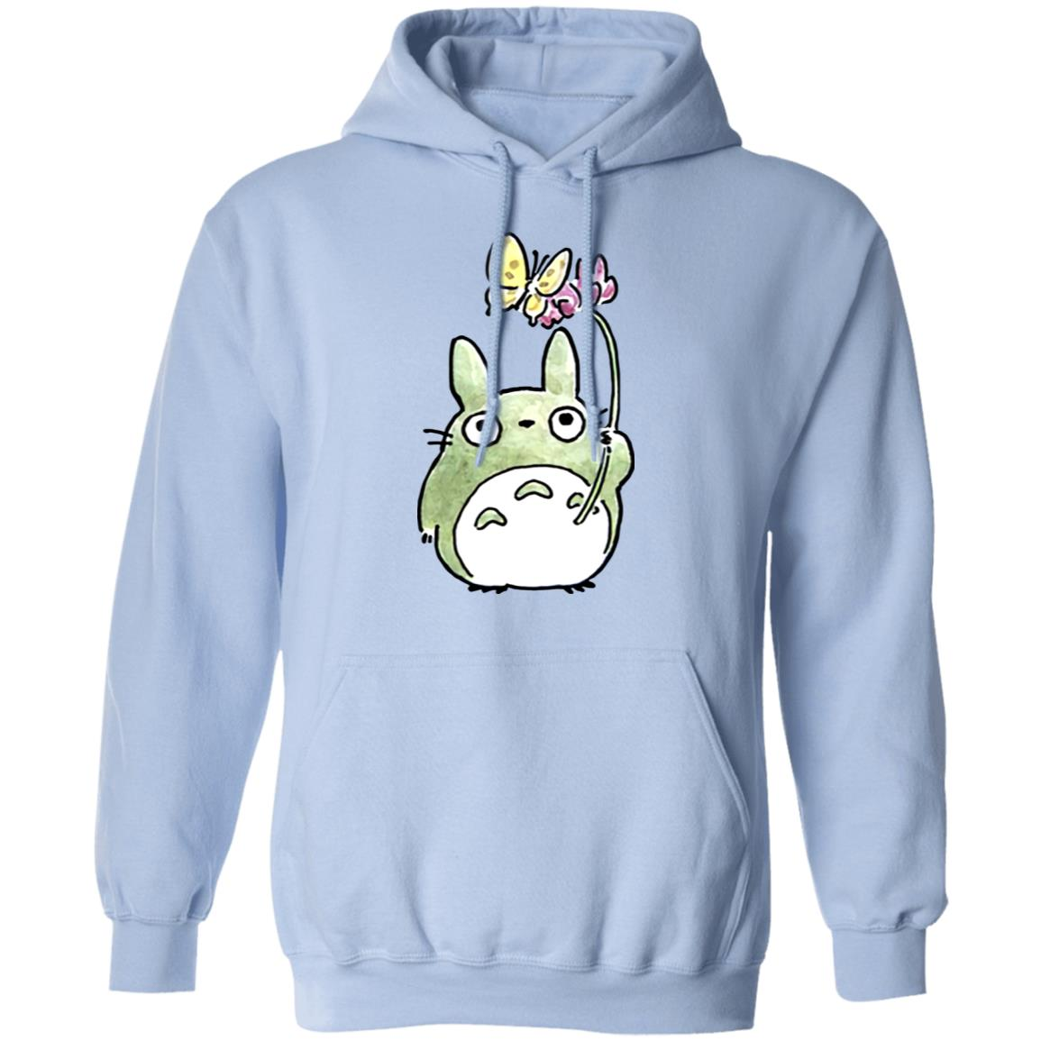 Totoro with Butterfly Cute Drawing Hoodie