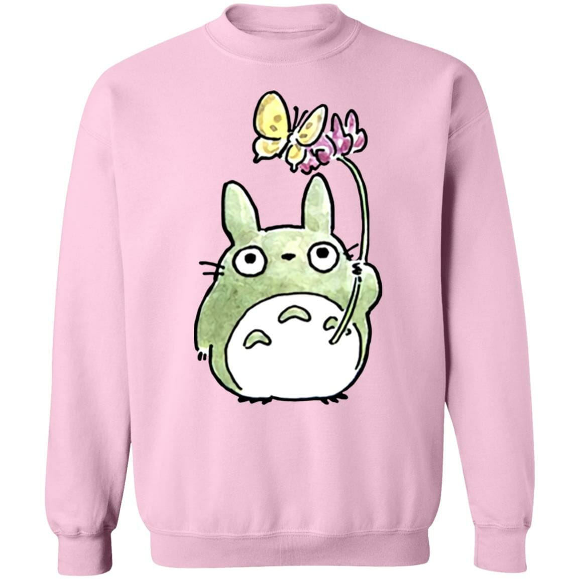 Totoro with Butterfly Cute Drawing Sweatshirt