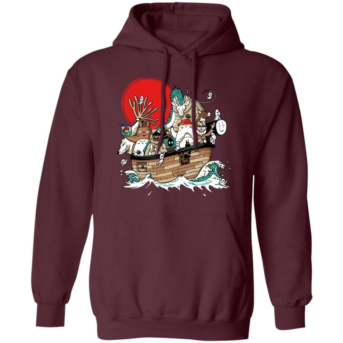 Studio Ghibli Boat Hoodie