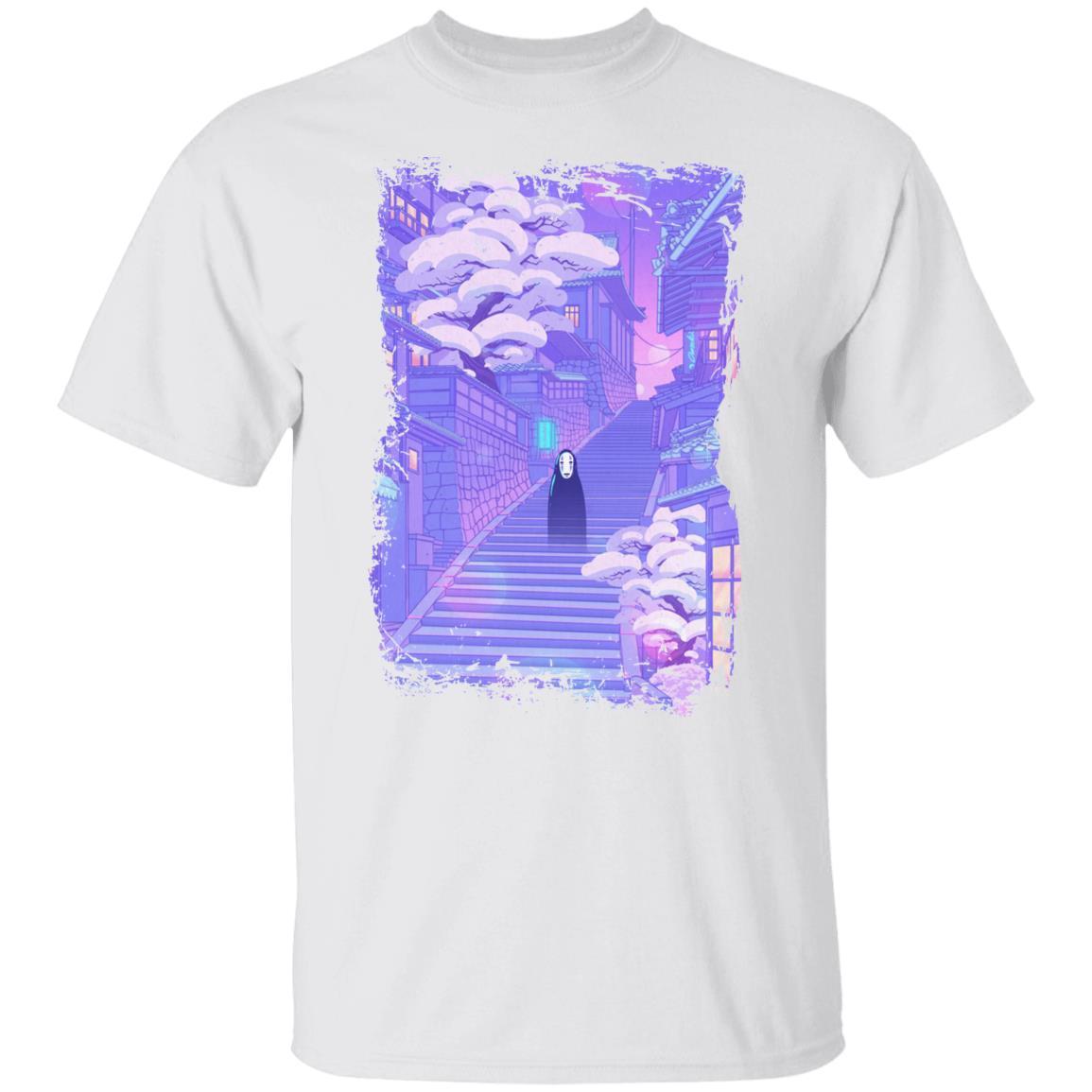 Spirited Away Kaonashi in the Sunset T Shirt