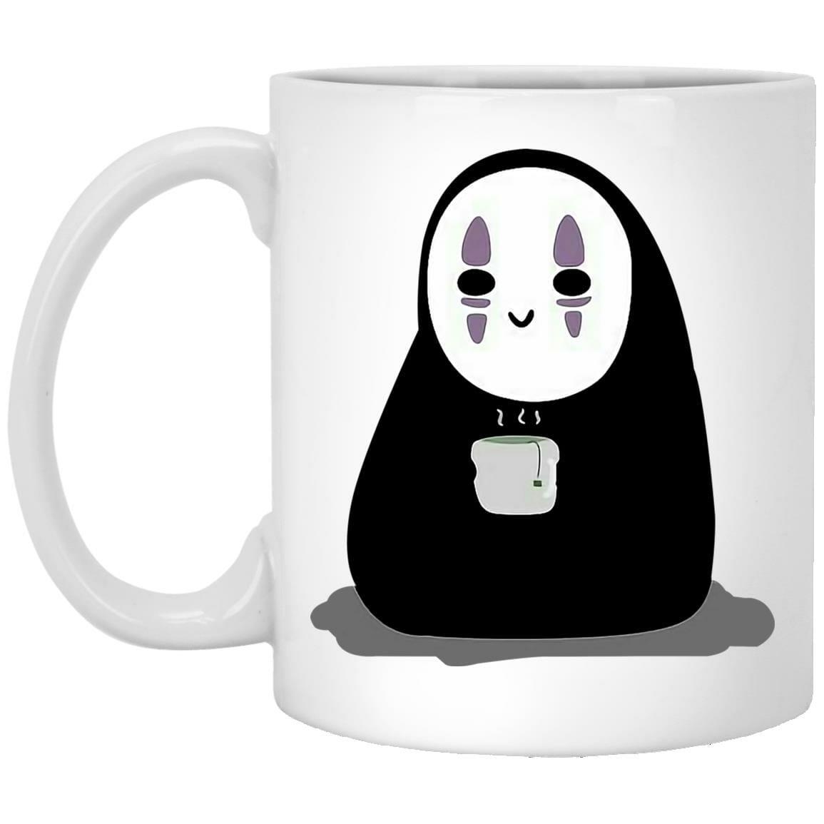 Cute No Face Kaonashi Drinking Hot Tea Mug