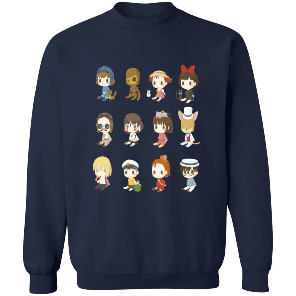 Ghibli Characters Cute Collection Sweatshirt