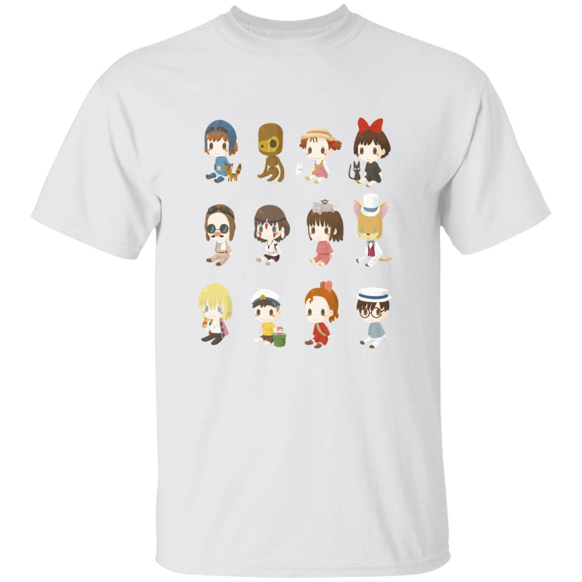 Ghibli Characters Cute Collection T Shirt