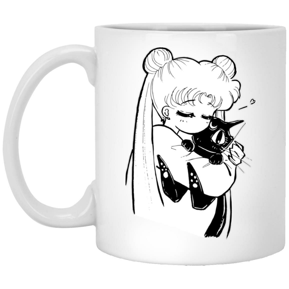 Sailor Moon – Usagi hugging Luna Mug