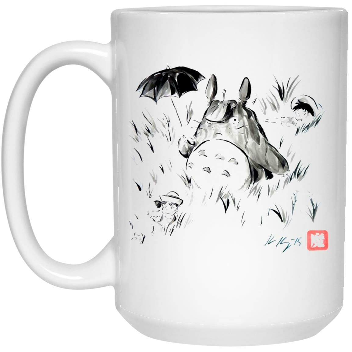 Totoro And The Girls Ink Painting Mug