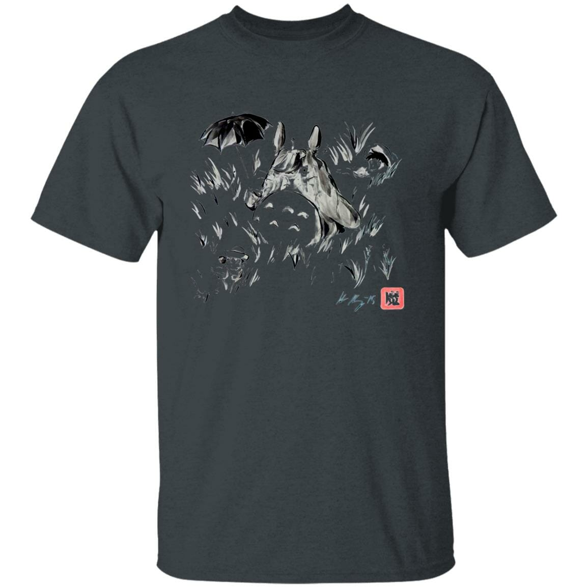 Totoro And The Girls Ink Painting T Shirt
