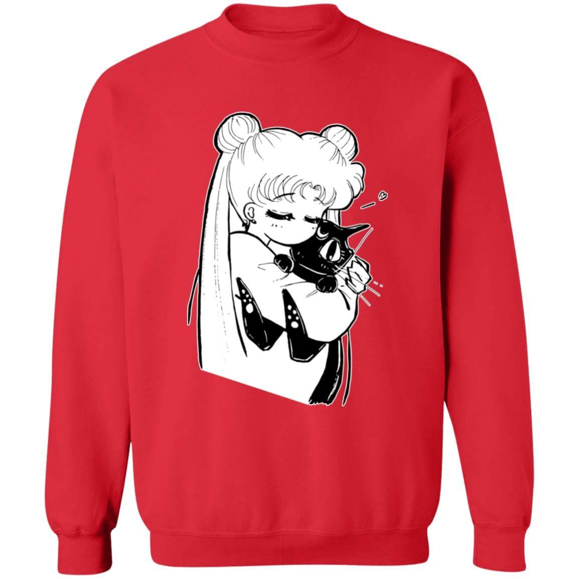 Sailor Moon – Usagi hugging Luna Sweatshirt
