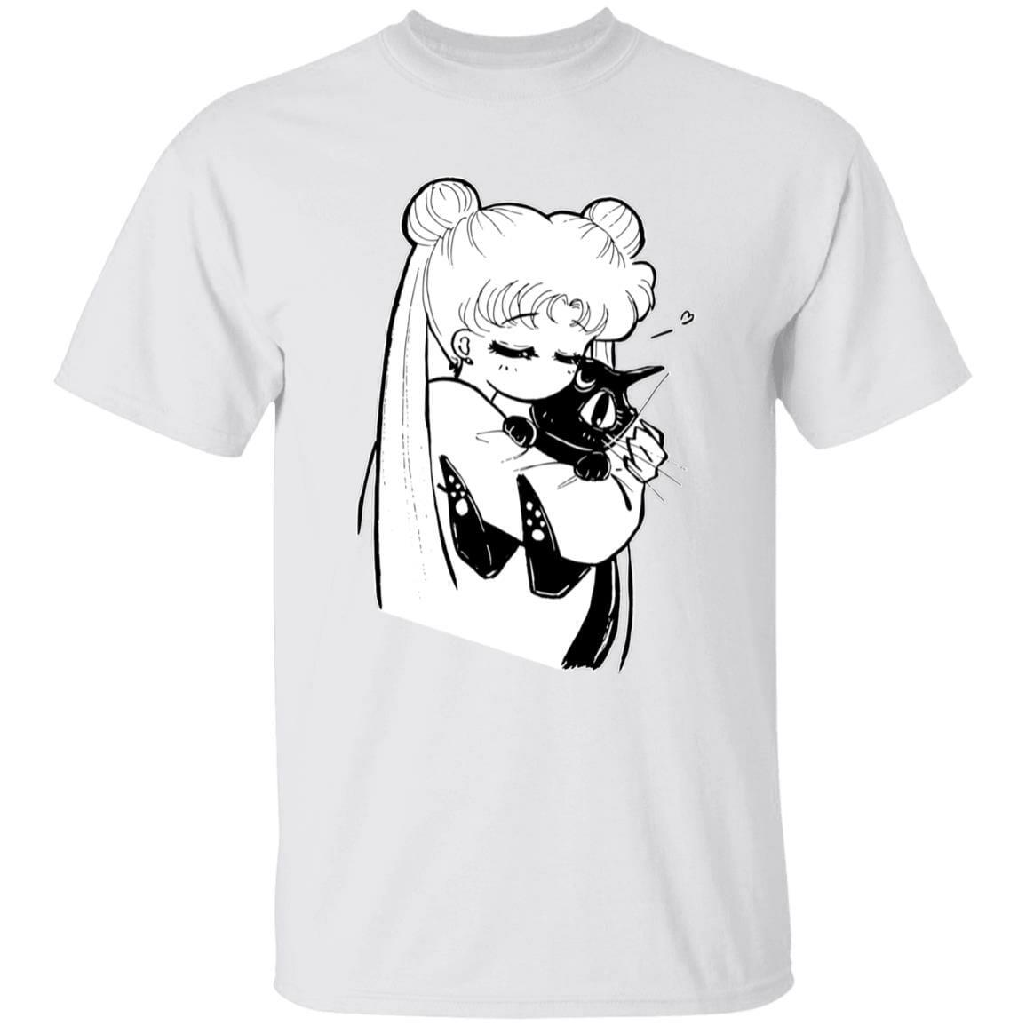 Sailor Moon – Usagi hugging Luna T Shirt