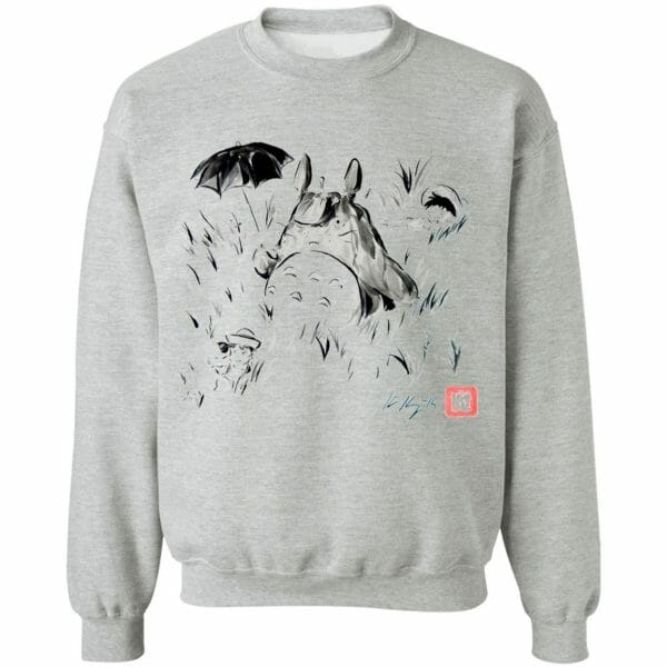 Totoro And The Girls Ink Painting Hoodie