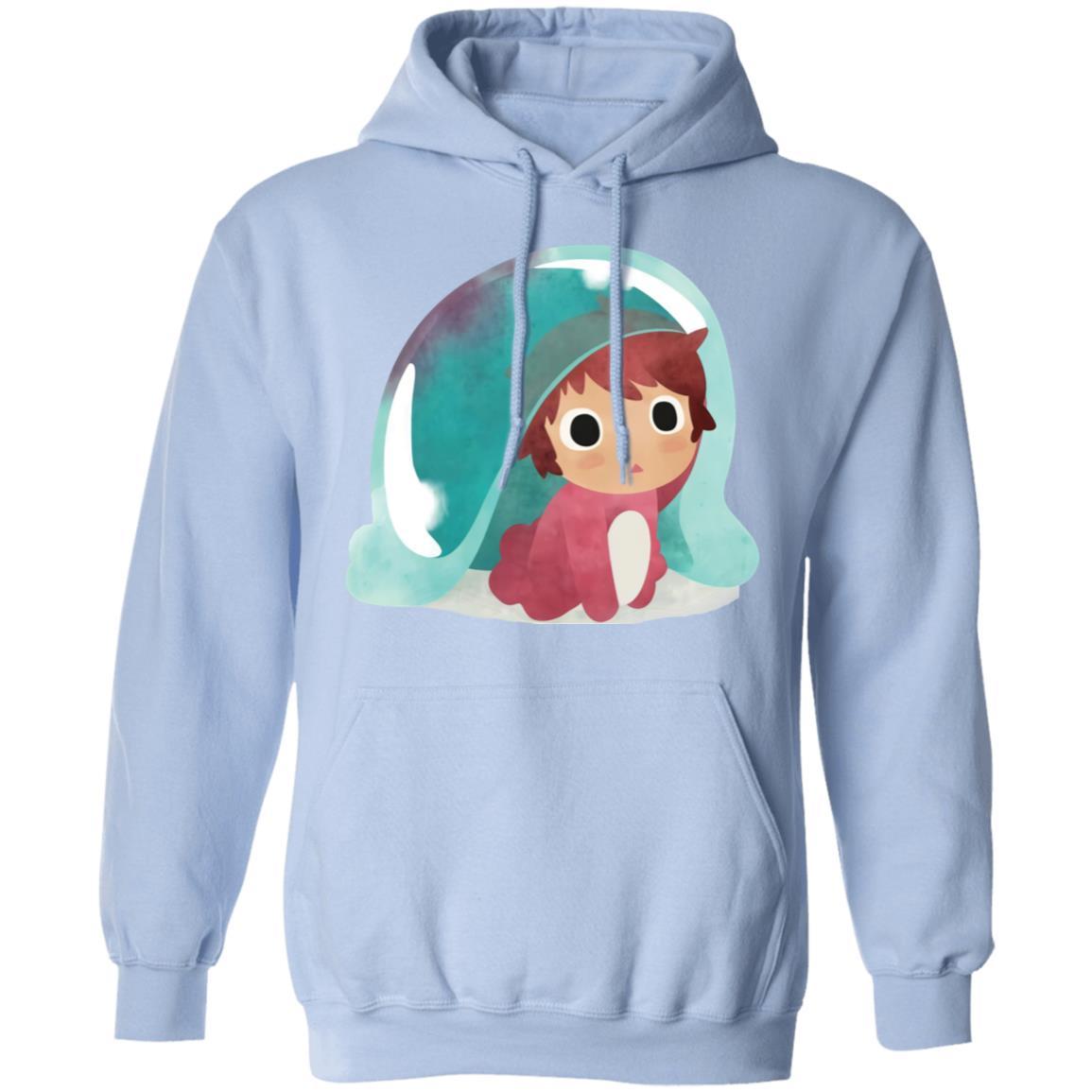 Ponyo Water Color Hoodie