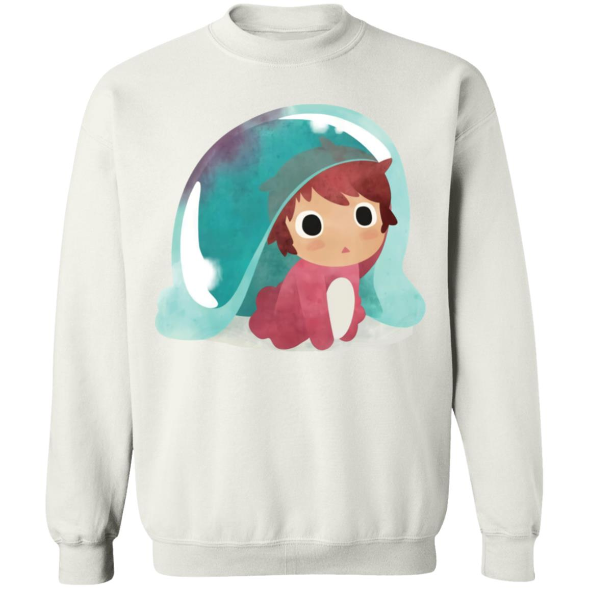 Ponyo Water Color Sweatshirt
